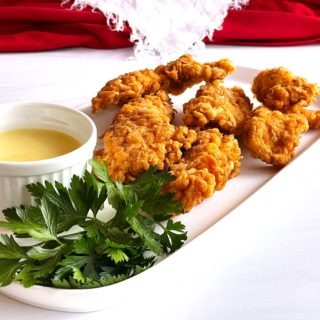 Southern Fried Chicken Strips with Honey Mustard dipping sauce