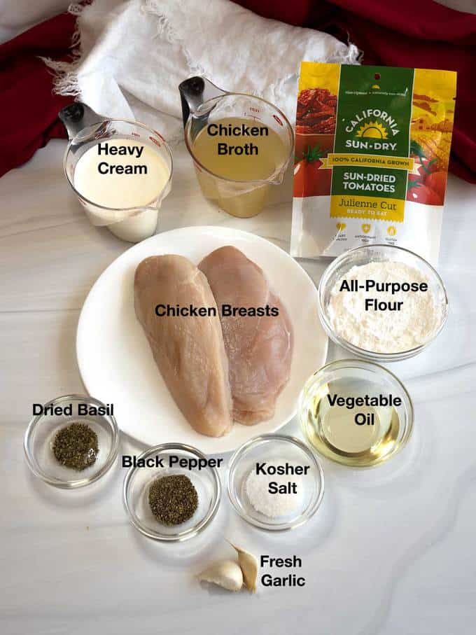 Ingredients for Chicken Milano