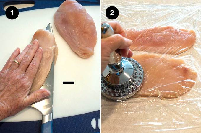 Preparing the Chicken Breasts
