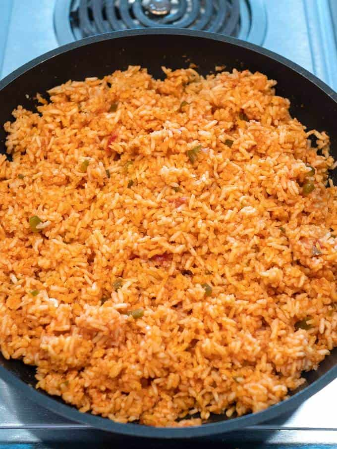 Cooked Rice in pan