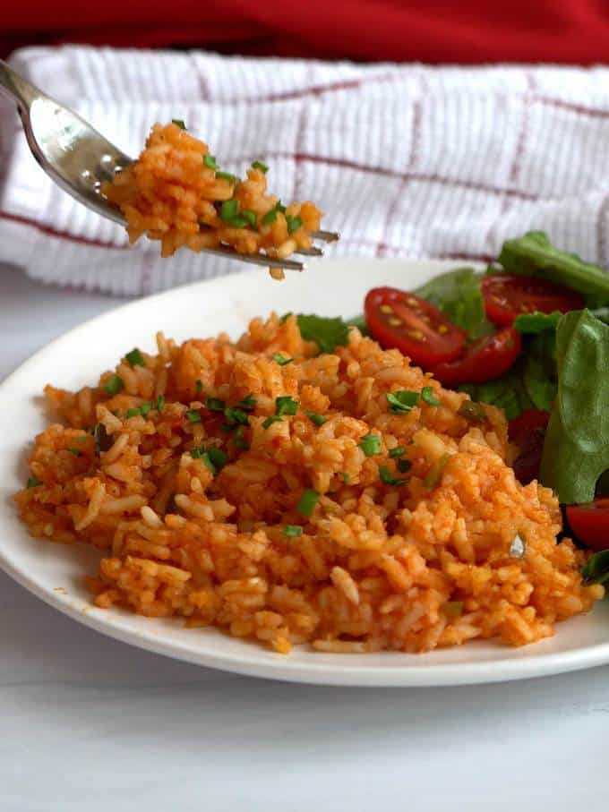 Eating the Mexican Rice
