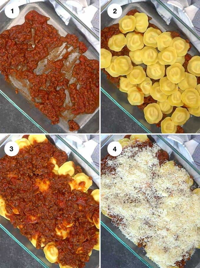 Building the lasagna with the different layers