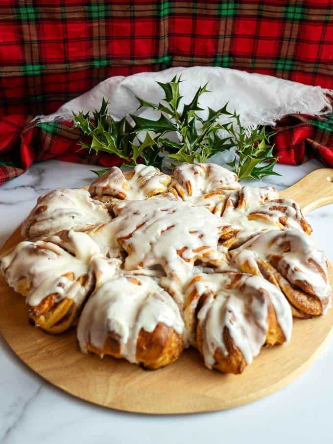 Cinnamon Snowflake Bread