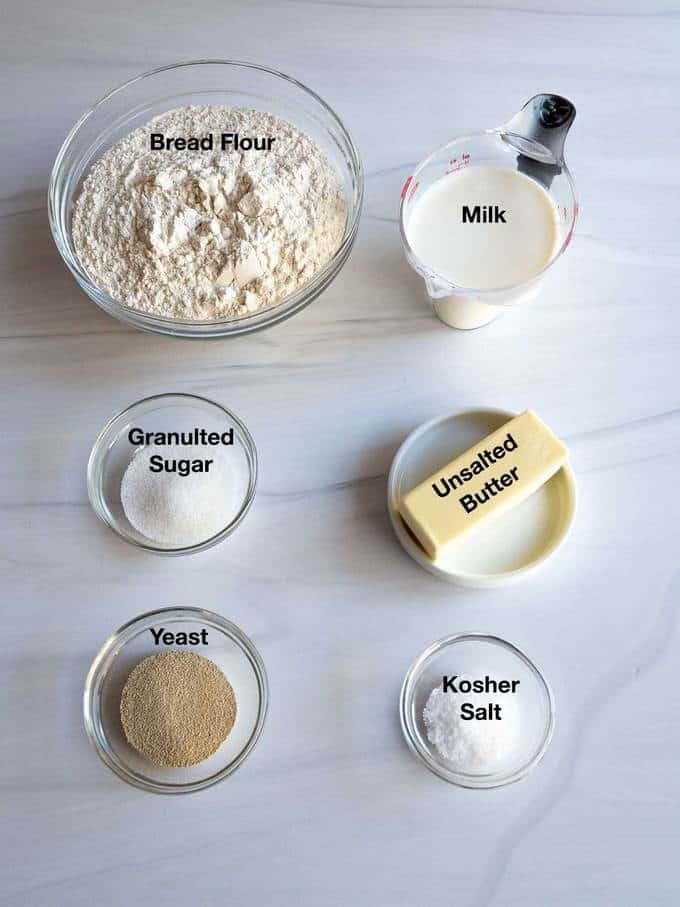 Ingredients for King Cake dough