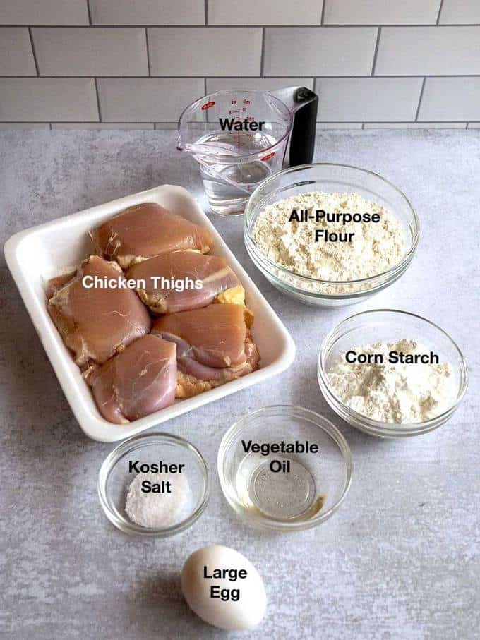 Ingredients for the chicken