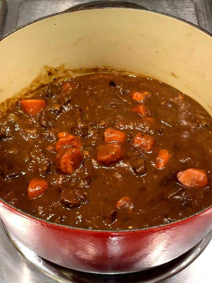 Finished Beef Bourguignon