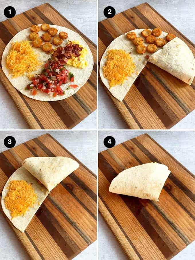 Folding the tortilla