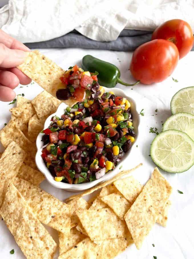 Black Beans and Corn Salsa