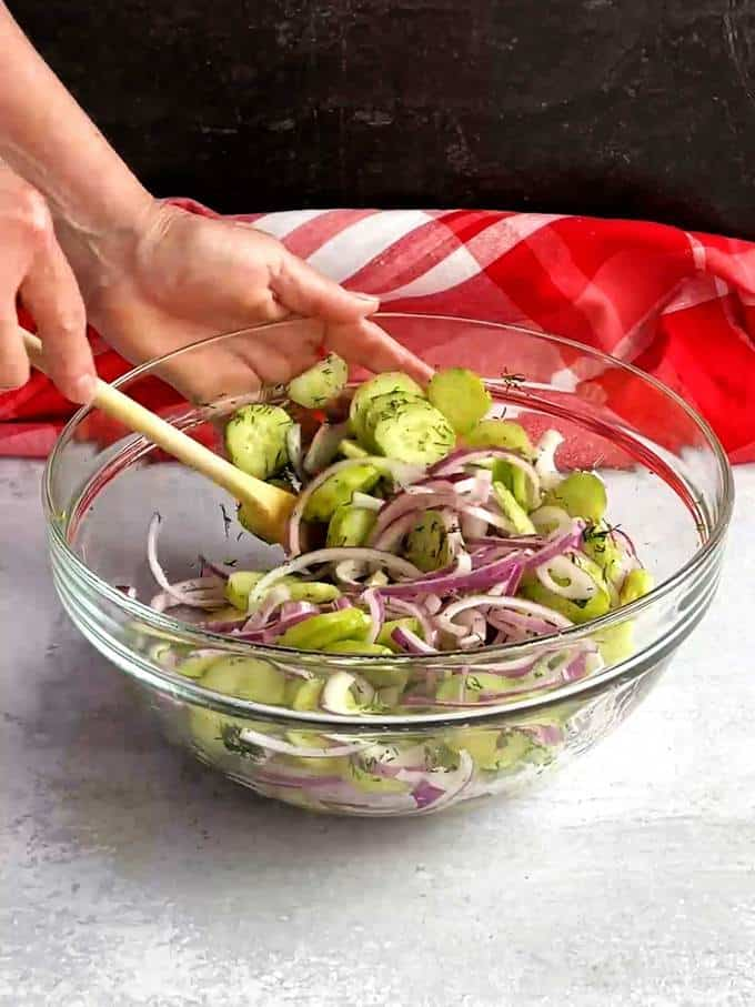 Stirring ingredients together