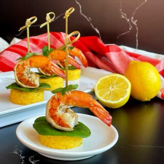 Shrimp and Gouda Grits Bites