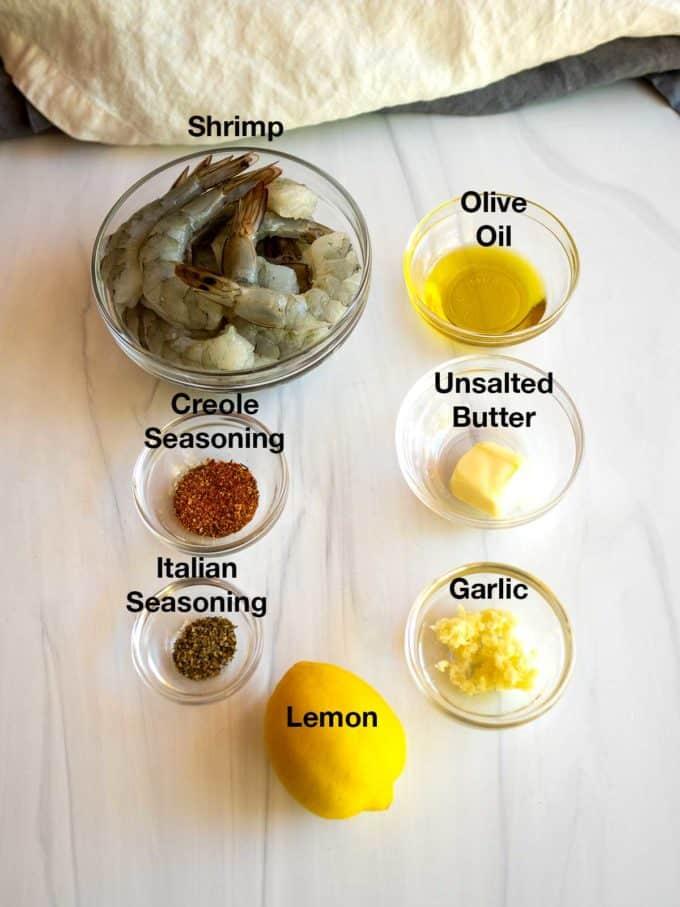 Ingredients for the shrimp.
