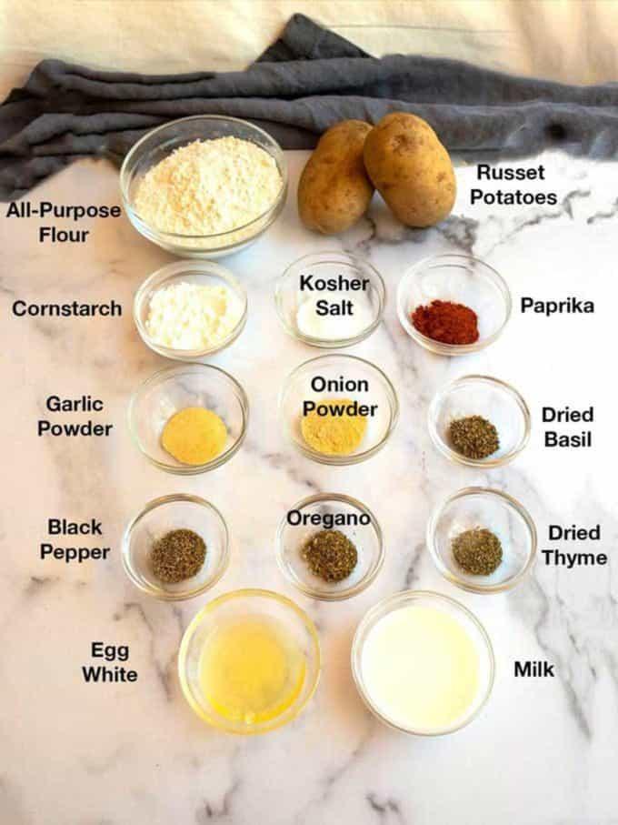 Ingredients for Mojo Potatoes