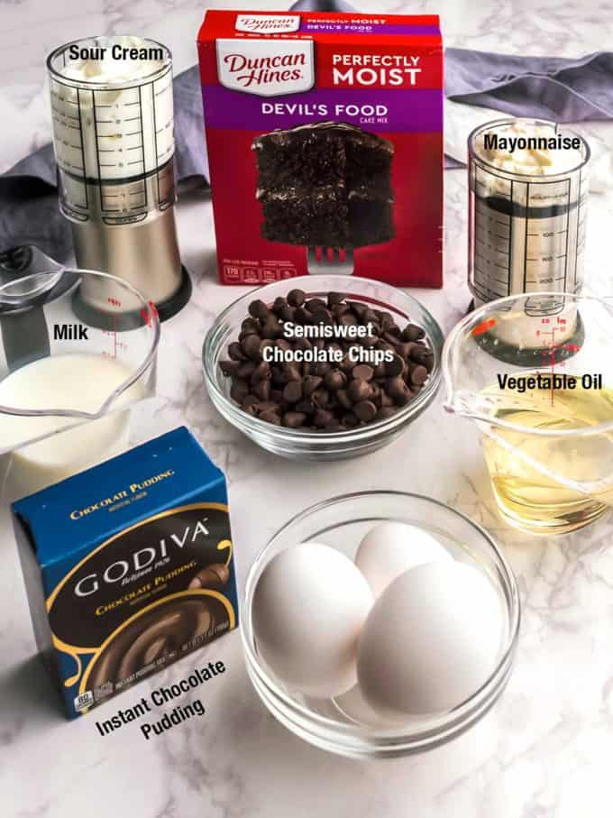 Ingredients for bundtinis