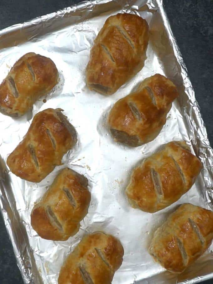 Sausage Rolls out of Oven