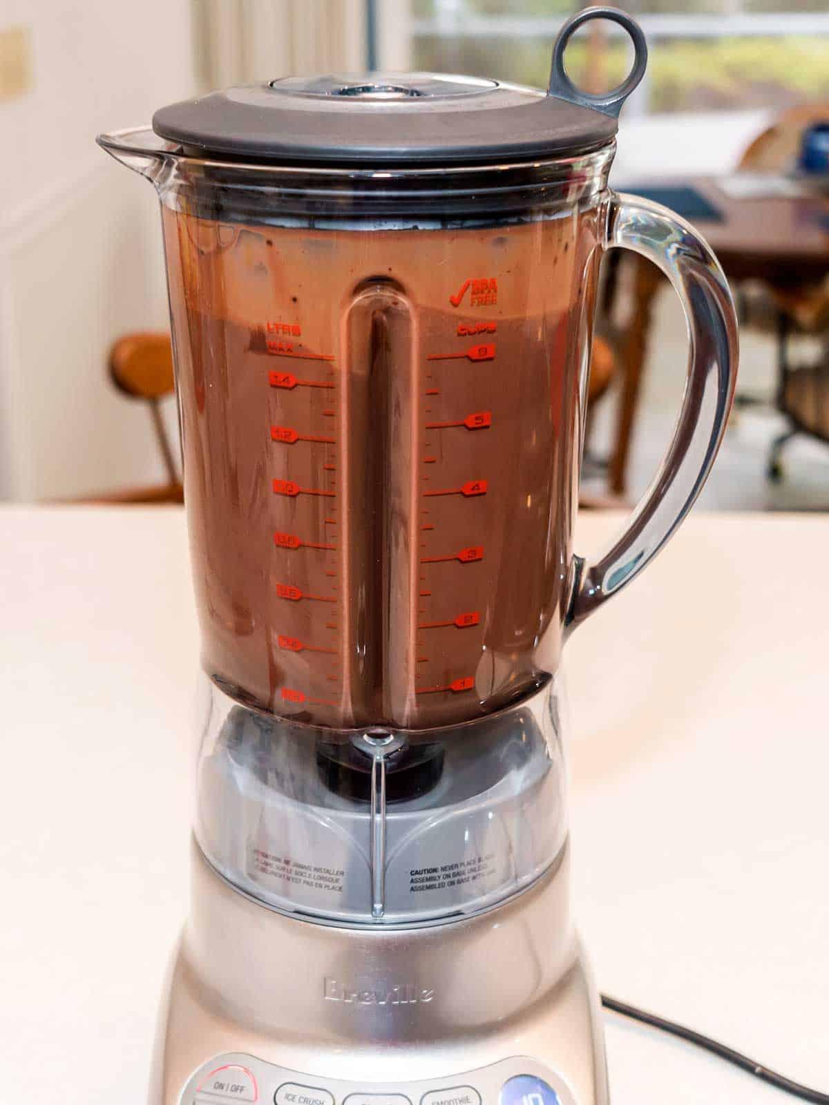 Ice Cream Mixture in Blender