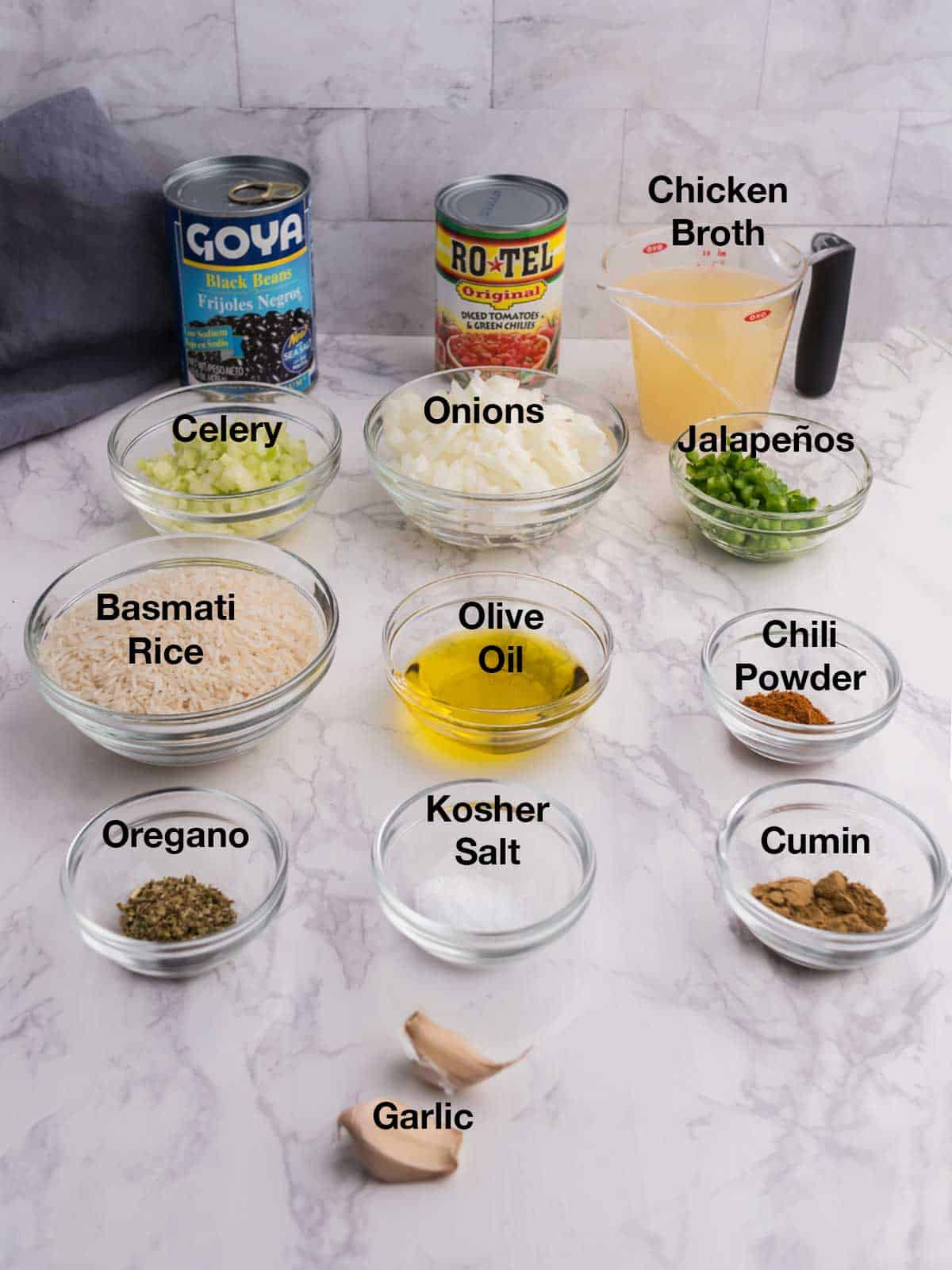 Ingredients for Instant Pot Mexican Rice