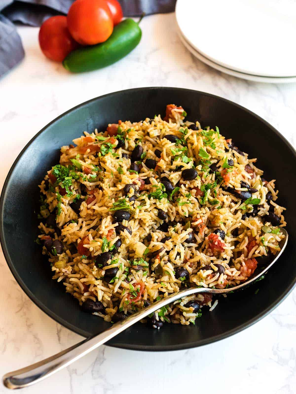 Instant Pot Mexican Rice with Black Beas