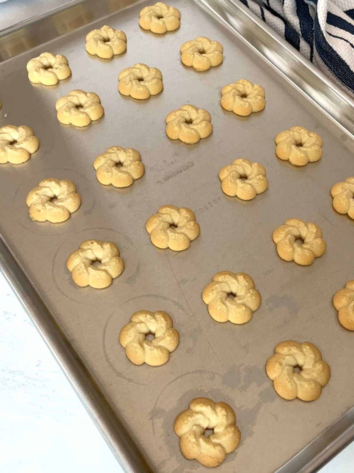 Cookies out of oven