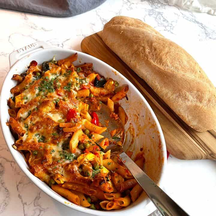 Cheesy Penne with Roasted Vegetables