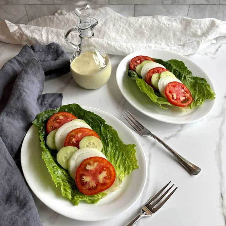 Tomato, Vidalia onion and cucumber salad