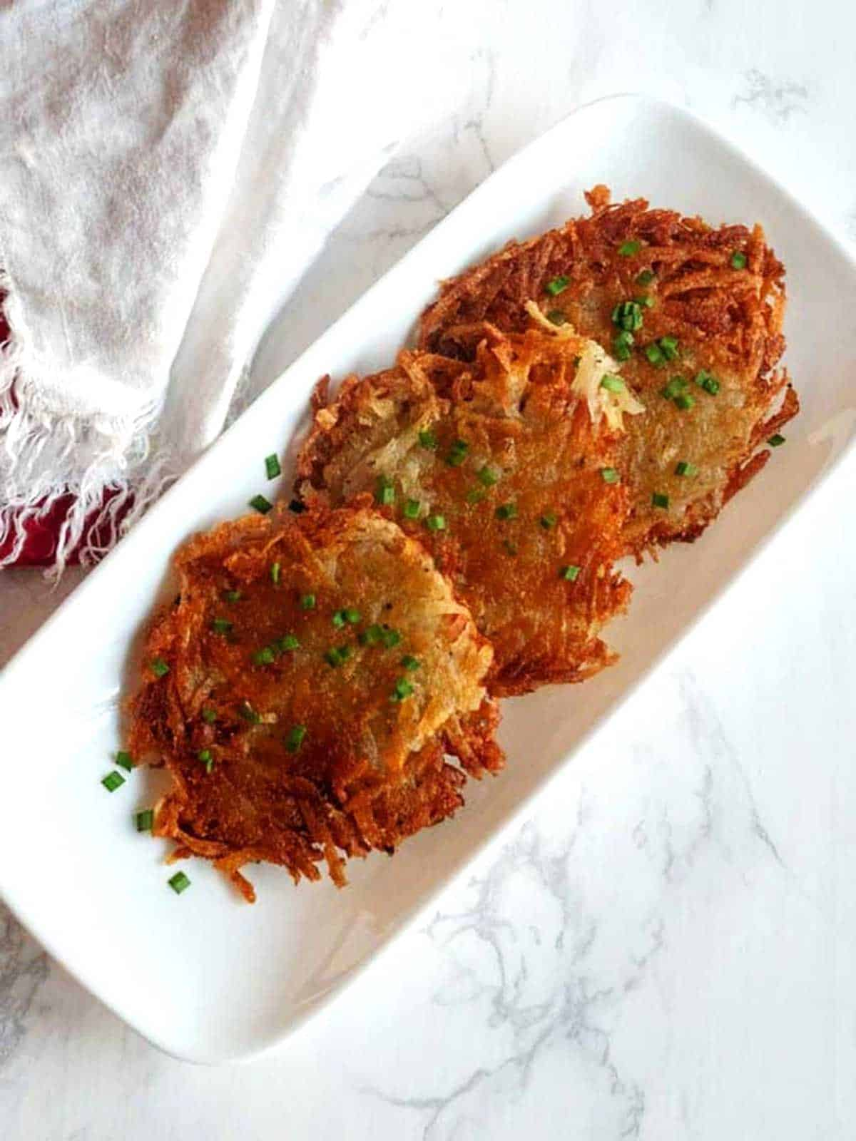 Individual grated potato galettes