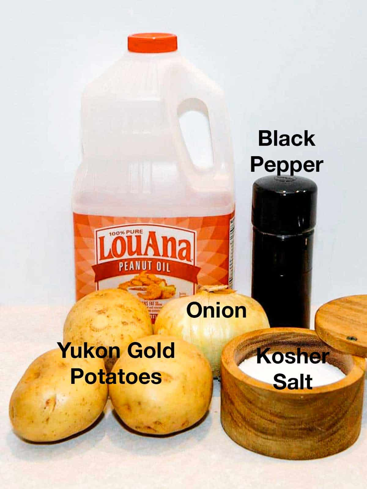 Ingredients used for potatoes and onions