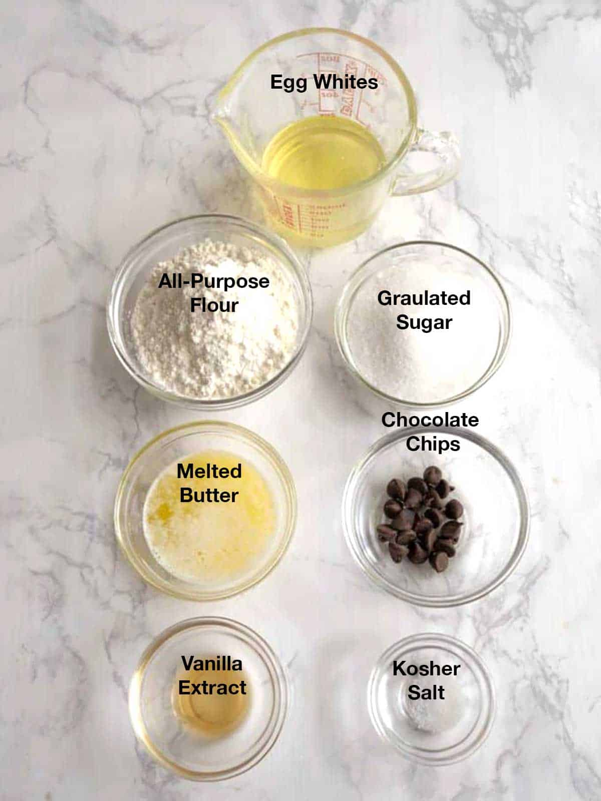 Ingredients for Waffle Cones