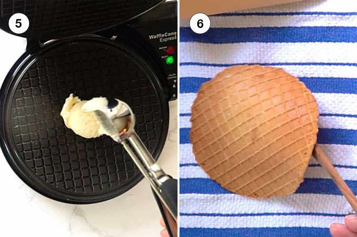 Making the Waffle.