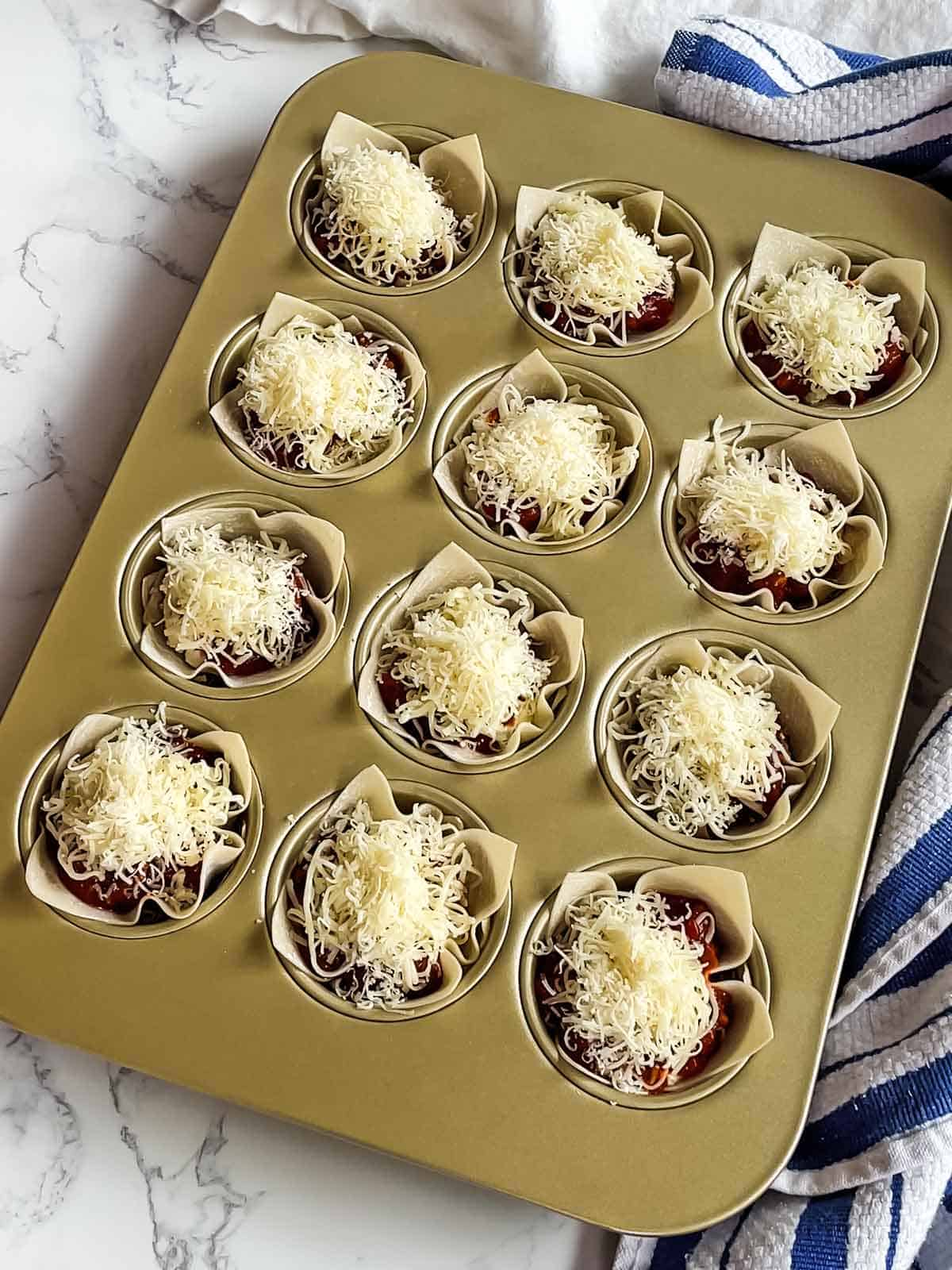 Sprinkled with parmesan cheese