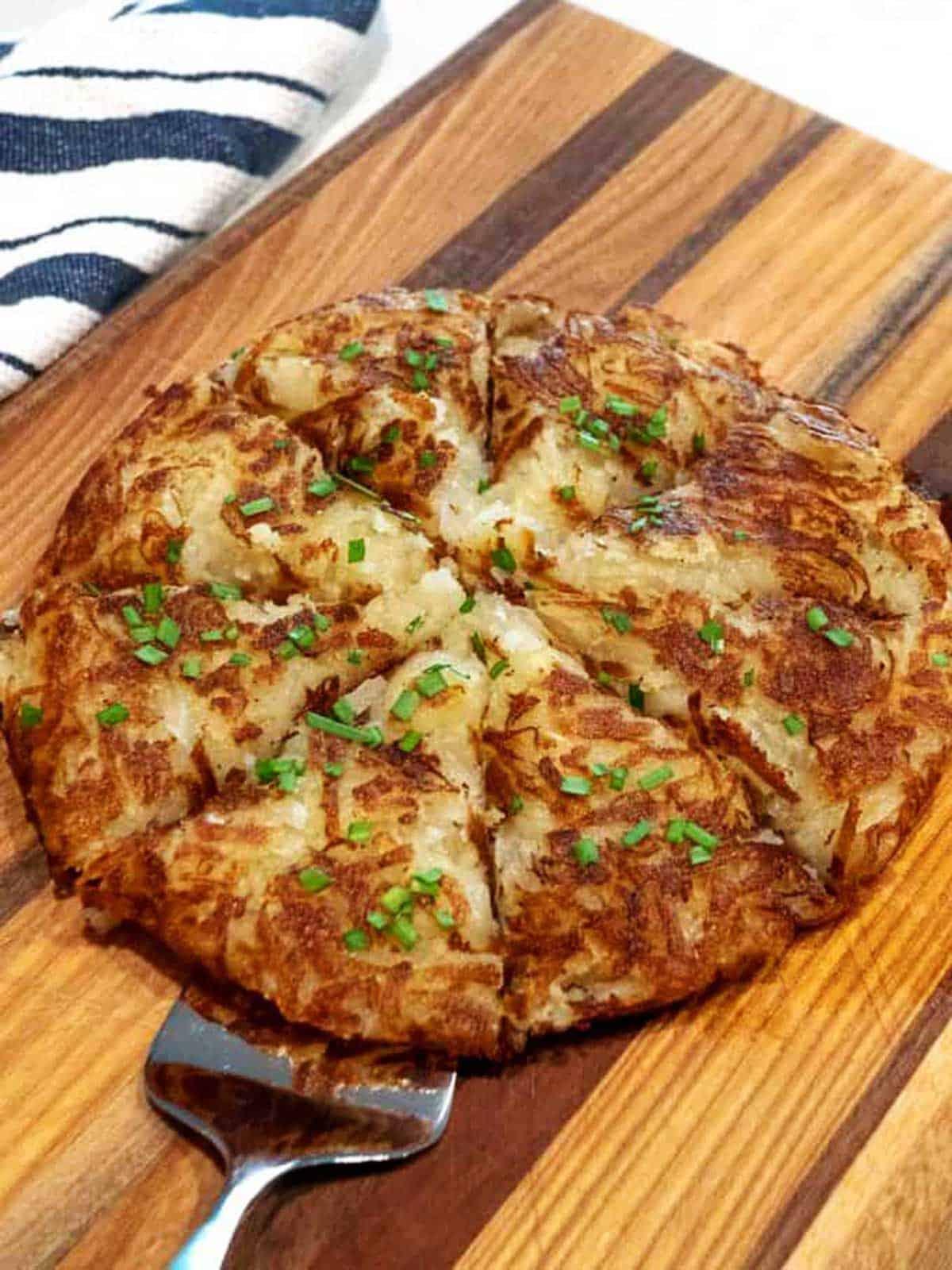 Julia Child's Grated Potato Galette