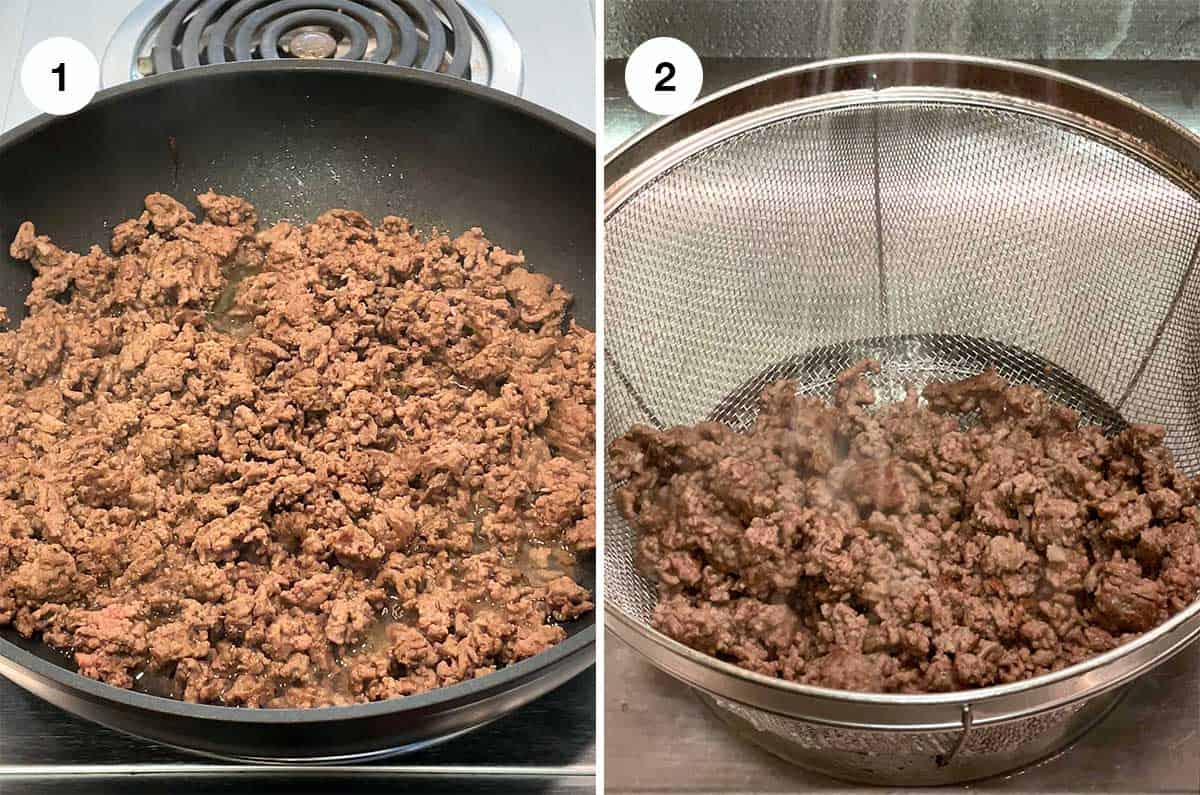 Cooking and Rinsing Ground Beef