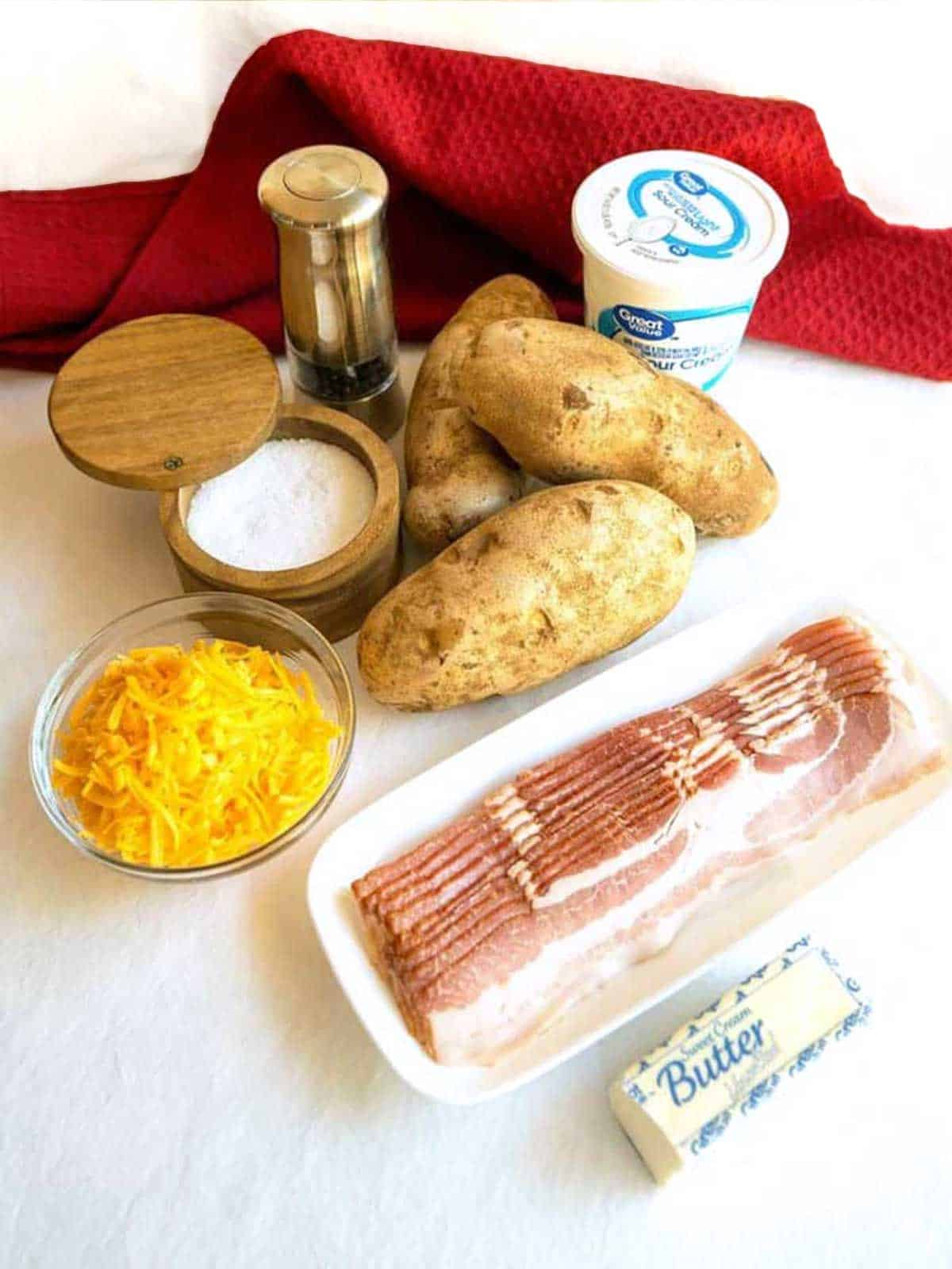 Ingredients for Twice Baked Potato Casserole