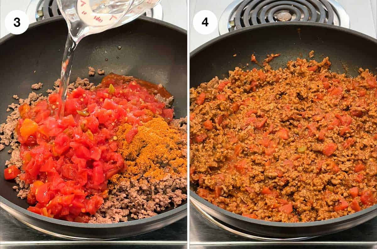 Making Taco Meat Mixture
