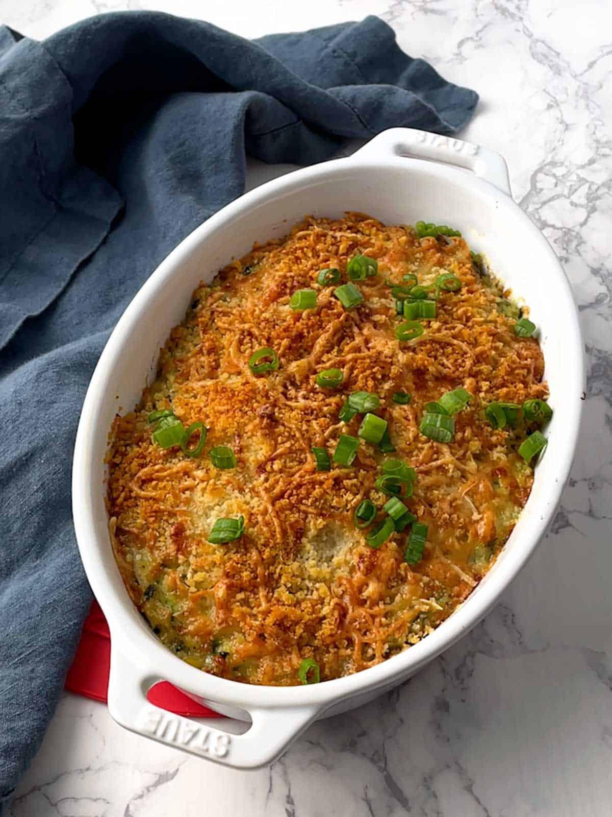 Easy make-ahead zucchini gratin