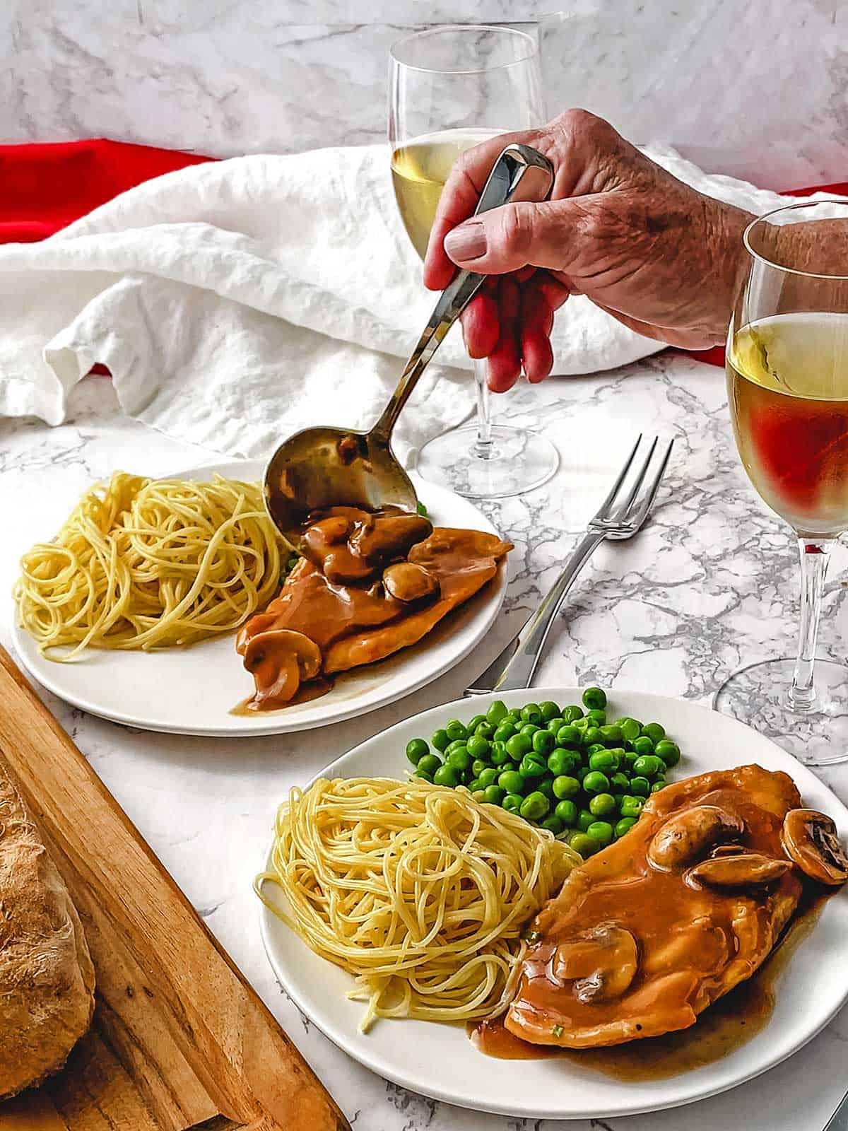 Chicken Scallopini with Mushrooms