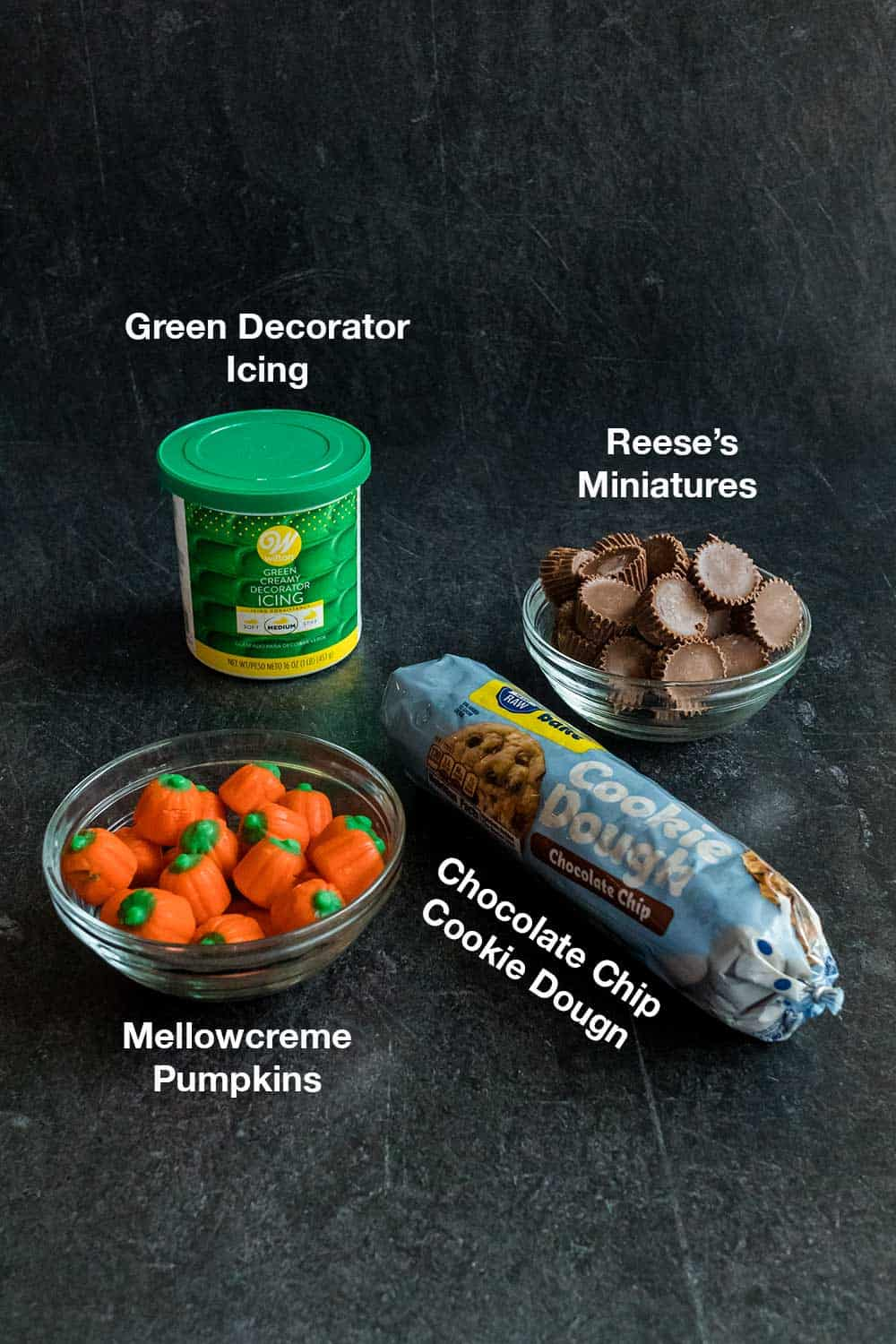 Ingredients for Pumpkin Patch Cookie Cups