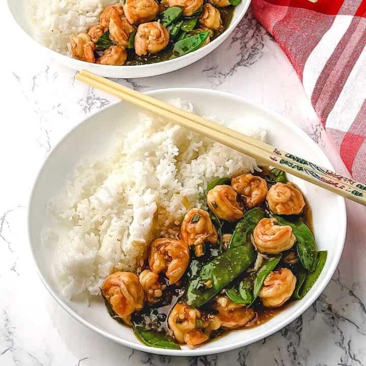 Stir Fry Shrimp with Snow Peas
